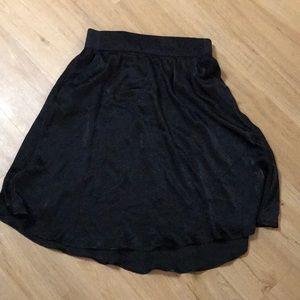 Black satiny skirt size Large by Joe B.